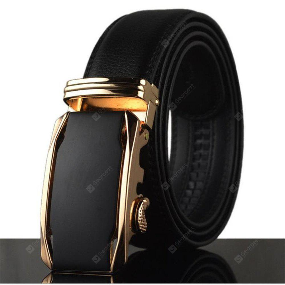 New Men's Business Authentic Leather Automatic Buckle Belt
