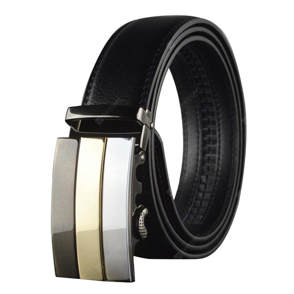 Men's Business Suits Korean Style Automatic Leather Belt Buckle