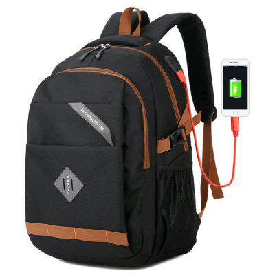 External Usb Easy Charge Multifunction Big Space Backpack