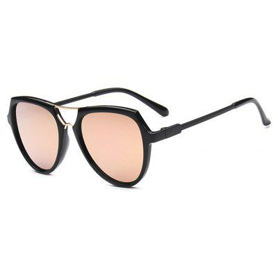 Viendo Stylish Triangle Frame Sunglasses With Mirrored Lenses Unisex UV400 Protection Glasses