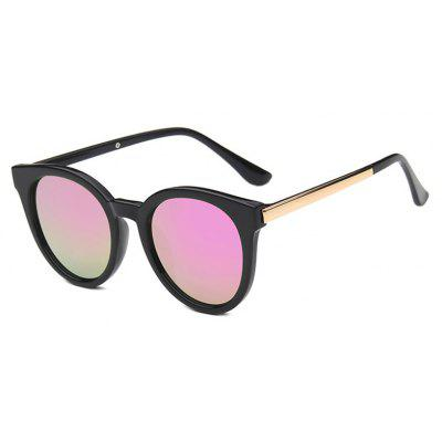 Viendo Vintage Round Frame Sunglasses With Mirrored Lenses Unisex UV400 Protection Glasses