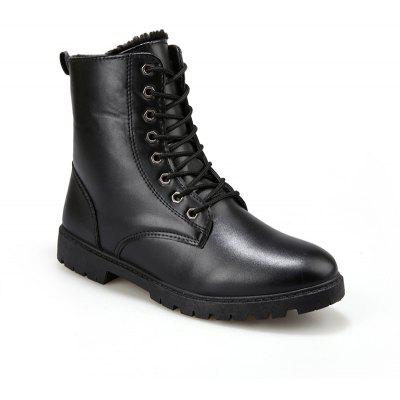 Men Casual Trend for Fashion Warm Winter Lace Up Leather Suede Ankle Boots