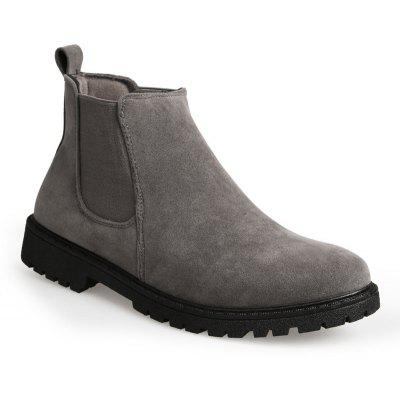 Tendência Casual Masculina para Moda Warm Winter Slip on Ankle Boots