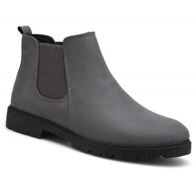 Men Casual Trend for Fashion Warm Winter Slip on Leather Ankle Boots