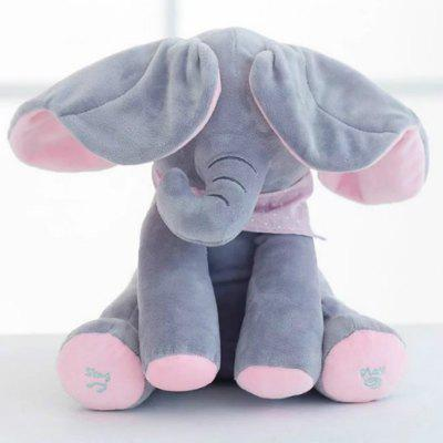 30CM Play Music Electric Elephant Peek Plush Soft Toy Play Hide Seek Cute Educational ToyStuffed Cartoon Toys<br>30CM Play Music Electric Elephant Peek Plush Soft Toy Play Hide Seek Cute Educational Toy<br><br>Features: Musical<br>Materials: PP Cotton<br>Package Contents: 1 x Music Electric Elephant Stuffed Plush Toy<br>Package size: 32.00 x 28.00 x 13.00 cm / 12.6 x 11.02 x 5.12 inches<br>Package weight: 0.2000 kg<br>Series: Fashion<br>Theme: Music