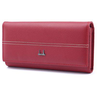 High Quality Women Leather Wallet Holder Long Design Clutch Female Purse Real Soft Cowhide