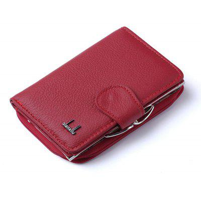 Buy Women's Coin Purses 2017 Genuine Leather Coin Wallets Female Small Wallet High Quality RED for $22.94 in GearBest store