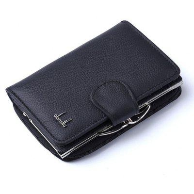 Buy Women's Coin Purses 2017 Genuine Leather Coin Wallets Female Small Wallet High Quality BLACK for $22.94 in GearBest store