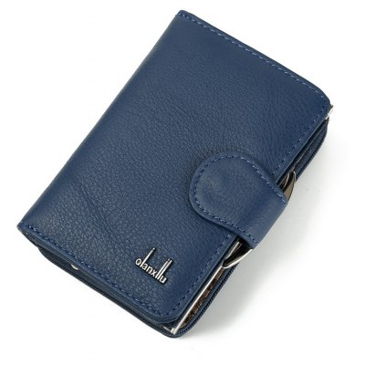 Buy Women's Coin Purses 2017 Genuine Leather Coin Wallets Female Small Wallet High Quality BLUE for $22.94 in GearBest store