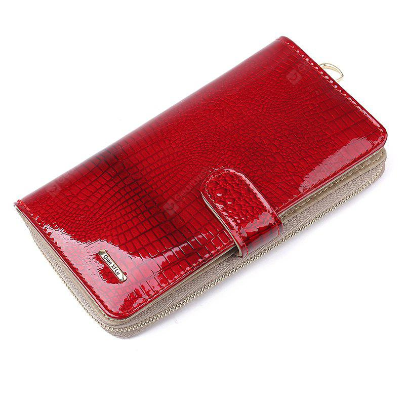 Fashion Alligator Womens Wallets and Purses Patent Genuine Leather,Ladies Leather wallets