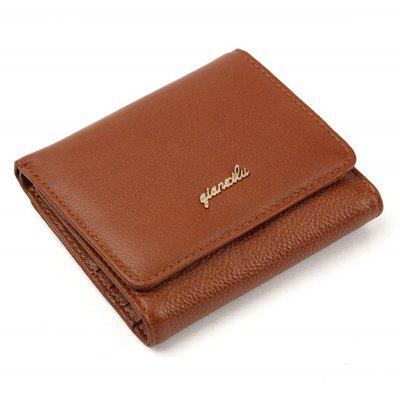Fashion 100% Genuine Leather Women Wallet Cowhide Wallets Small Purse