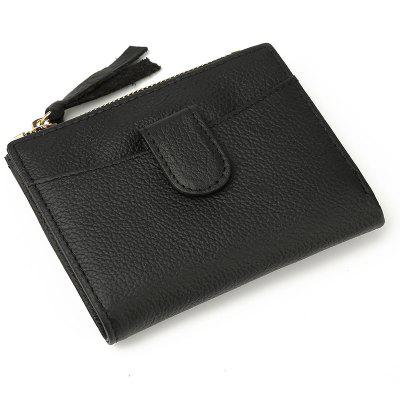 New Brand Women Wallets Cowhide Leather Zipper and Hasp Coin Purses Female Wallet High Quality