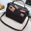 New Badge Handbag Fashion Shoulder Messenger Bag - BLACK