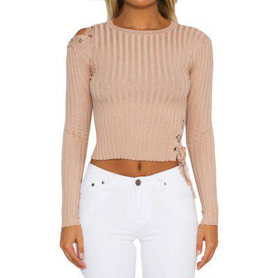 Slim Lace Up Pullover
