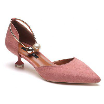 Lady pearl banquet short and comfortable pump shoes