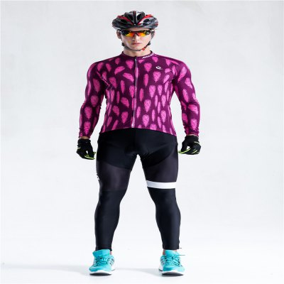Malciklo 18 Autumn Cycling Jersey   Bib Tights Men Long Rompers Bike Compression Suits Quick Dry