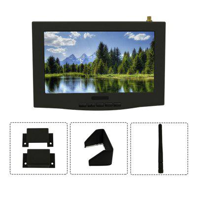 Lieber 7 inch LCD FPV Monitor Built-in 5.8G 40CH Single Wireless Receiver
