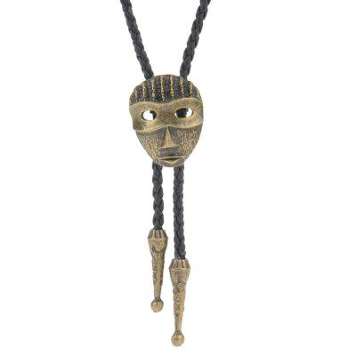 Fashion Literature and Art Small Fresh Hollow Out Mask Long Necklace