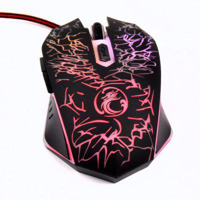 Estone X5 USB Wired Optical Computer Mouse 6 Key 2400DPI Colorful Led Breathing Light Mice Mause for PC Laptop Games