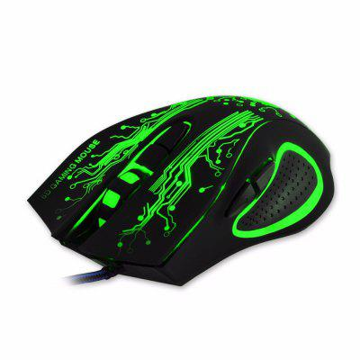 Estone X9 Gaming Mouse 3200 DPI USB Wired Optical LED Computer Mice Mause for Laptop PC Gamer Upgraded Version