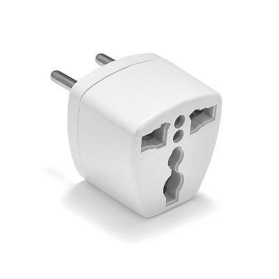 Buy WHITE EU Plug Adapter Converter US AU UK To European Euro Europe AC Travel Power Adapter Electric Socket Electric Outlet for $1.63 in GearBest store