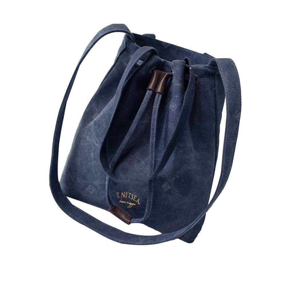 Women's Shoulder Bag Fashion Solid String Canvas Casual Bag