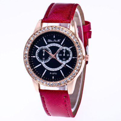 ZhouLianFa nueva moda Crystal Grain correa de cuero Rose Gold Diamond Ladies Luxury Business reloj de cuarzo con caja de regalo