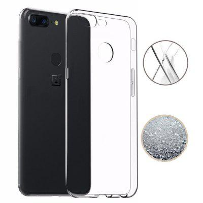 Anti-knock Clear Soft TPU Silicone Phone Case for OnePlus 5TCases &amp; Leather<br>Anti-knock Clear Soft TPU Silicone Phone Case for OnePlus 5T<br><br>Compatible Model: Oneplus 5T<br>Features: Anti-knock<br>Material: TPU<br>Package Contents: 1 x Phone Case<br>Package size (L x W x H): 16.00 x 8.00 x 1.00 cm / 6.3 x 3.15 x 0.39 inches<br>Package weight: 0.0200 kg<br>Style: Transparent