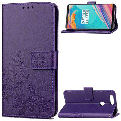 Embossing Card Slot Wallet Cover Case for Oneplus 5T