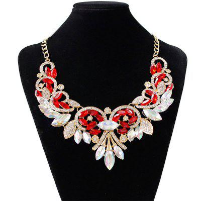Women Girls Diamond Pendants Choker Metal Necklace Fashion Jewelry Valentine's Day Gifts