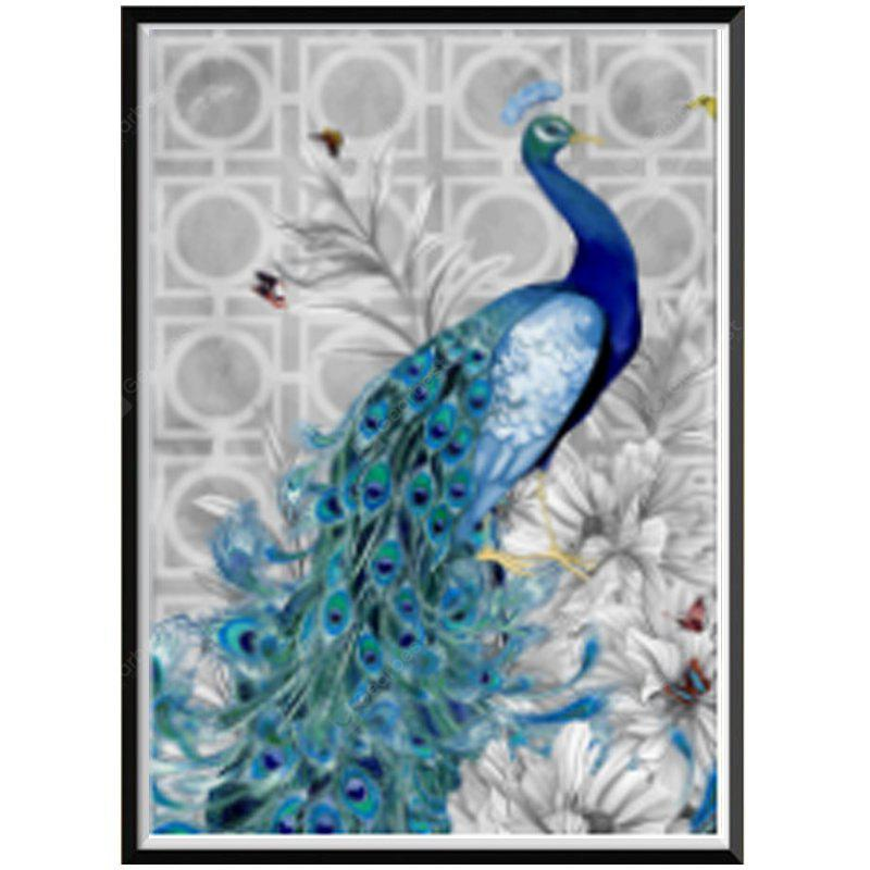 NAIYUE 2034 Blue Peacock Animal Print Disegna Diamante Pittura Diamante