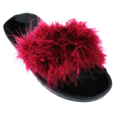 Fashion Feather Flat Slippers
