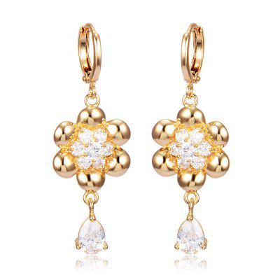 Fashion Petal Zircon Earrings