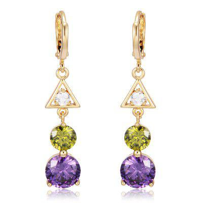 Fashion Geometric Shape Zircon  Earrings