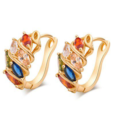 Extravagant  Colored Zircon Earrings