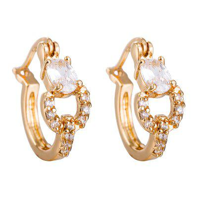Fashion  Color Zircon Earrings