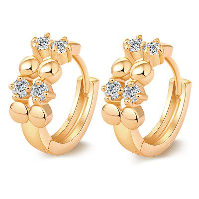 Simple and Fashionable Zircon Earrings
