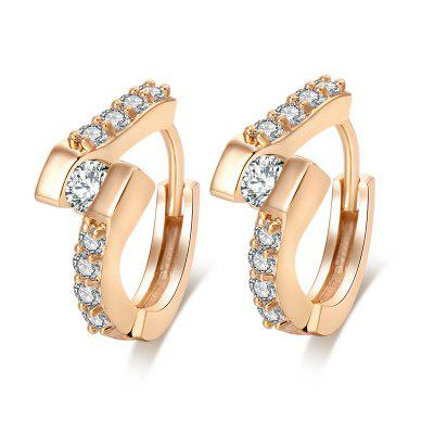 Simple and Stylish Dislocation of Zircon Earrings