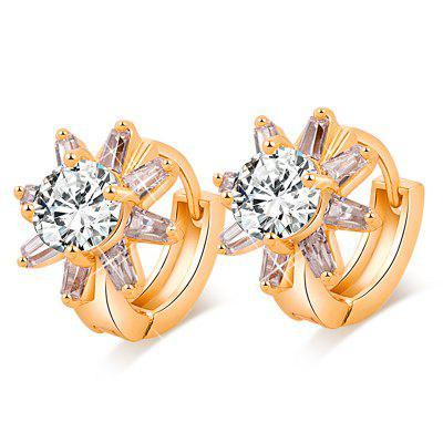 Simple Fashion Petal Zircon Earrings