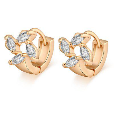 Trendy  Spiral Zircon Earrings