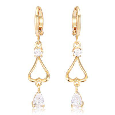 Trendy Hollowed Out Zircon Earrings