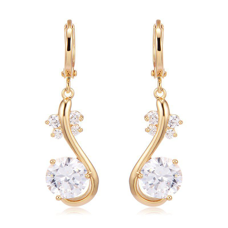 Simple Fashion Dragonfly Zircon Earrings