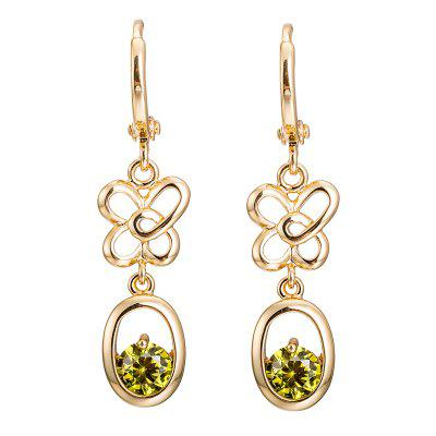 Trendy  Hollowed Butterfly Zircon Earrings