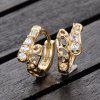 Trendy Dislocation of Zircon Earrings - GOLDEN