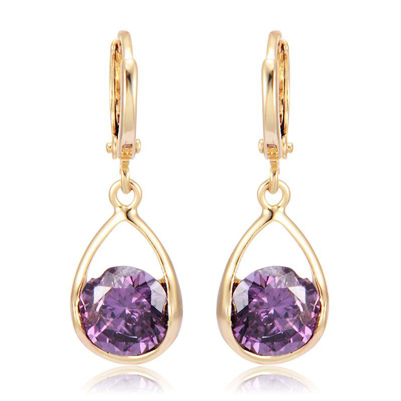 Extravagant Hollowed Out Zircon Earrings