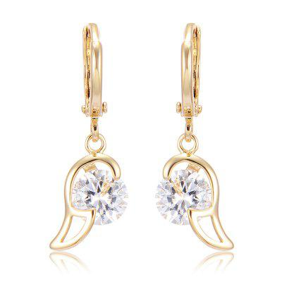 Zircon Earrings with  Angel Wings
