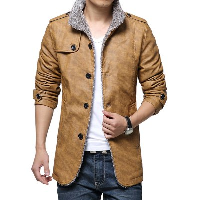 Winter Men'S Clothing Fashion Warm and Cashmere Coat