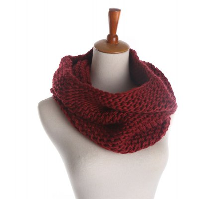 Z1574 knitted scarf color thick