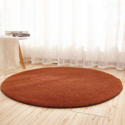 Home Floor Mat Delicate Solid Round Shaped Soft Antiskid Floor  Mat