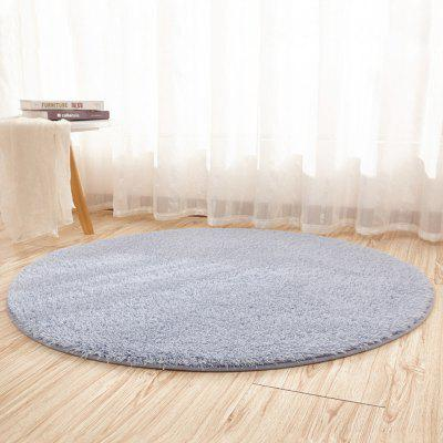 Buy SILVER GRAY 60X60CM Home Floor Mat Delicate Solid Round Shaped Soft Antiskid Floor Mat for $12.81 in GearBest store